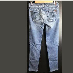 7FAM Dojo Straight Slim Leg Denim Jeans